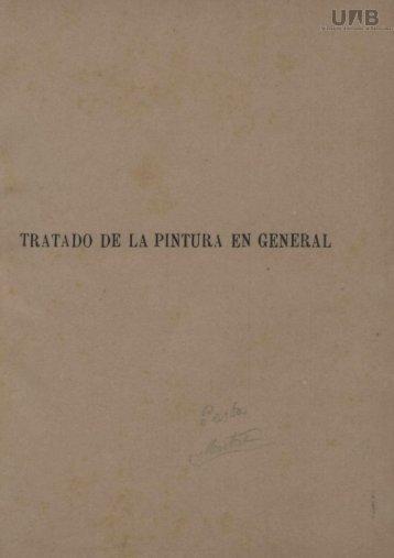 TRATADO DE LA PINTURA EN GENERAL