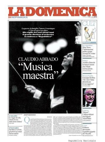 CLAUDIO ABBADO - La Repubblica