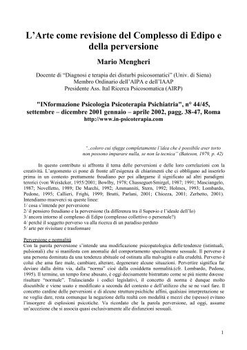 LrArte come revisione del Complesso di Edipo e ... - in-psicoterapia