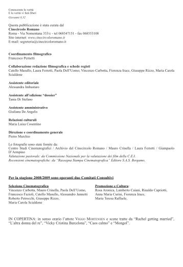 Per la stagione 2008/2009 sono operanti due Comitati Consultivi IN ...