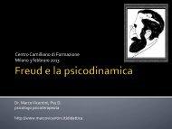 Freud e la psicoanalisi - dott. Marco Vicentini
