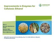 Improvements in Enzymes for Cellulosic Ethanol