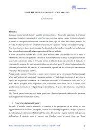 i fattori fondamentali della relazione analitica - Doppio Sogno