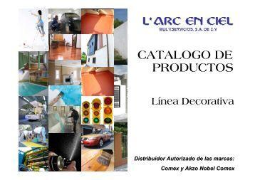 CATALOGO DE PRODUCTOS - L Arc en Ciel