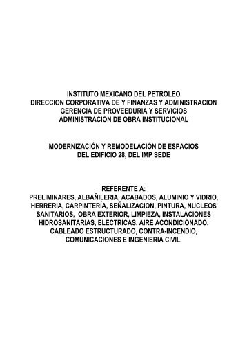 instituto mexicano del petroleo direccion corporativa de y