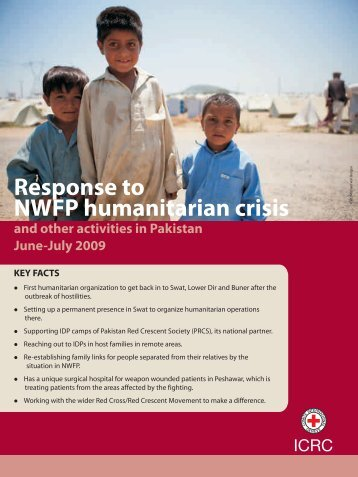 ICRC activities in the North-West Frontier Province of Pakistan, June ...