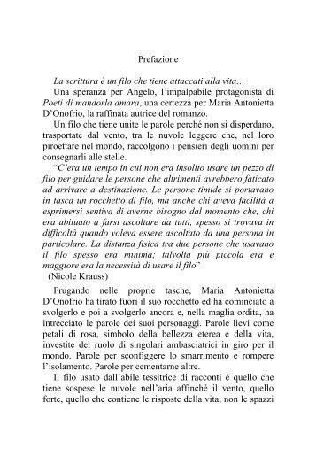 Prefazione di Eva Bonitatibus - editore mannarino new