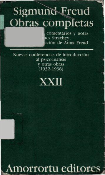 Nuevas conferencias de introducción al psicoanálisis, y otras obras