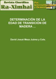 Determinación de la edad de transición de madera juvenil a madura ...