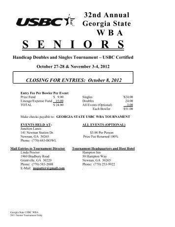 2012 Sr Tournament Entry - WBA - Georgia State USBC Women's ...