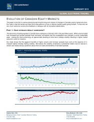 EVOLUTION OF CANADIAN EQUITY MARKETS - RBC Capital ...