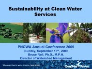 Sustainability at Clean Water Services - pncwa