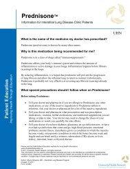 Prednisone - the University Health Network