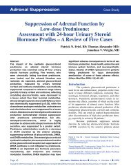 Suppression of Adrenal Function by Low-dose Prednisone ...