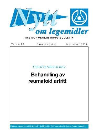 Behandling av reumatoid artritt