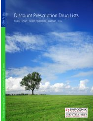 Discount Prescription Drug Lists - Sapoznik Insurance