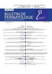 Buletin de Perinatologie 3_2008 - Baza de date a revistelor ştiinţifice