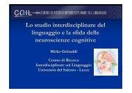 Slide dell'intervento - CRIL - Università del Salento