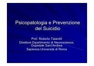 Psicopatologia e Prevenzione del Suicidio - Agenzia di Sanità ...