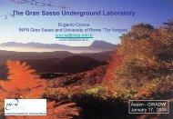 Gran Sasso Laboratory: present and future - LIGO