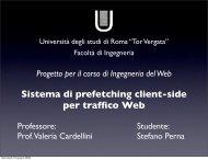 Sistema di prefetching client-side per traffico Web - Ingegneria del ...