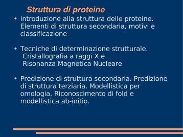 Struttura di proteine