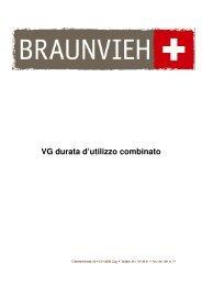 VG durata d'utilizzo combinato - Schweizer Braunviehzuchtverband