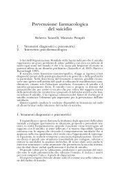 Tatarelli R., Pompili M. - Prevenzione farmacologica del suicidio