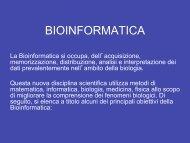 BIOINFORMATICA - Laboratorio di Bionanotecnologie