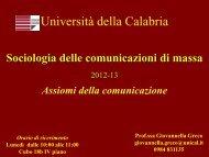 Assiomi della comunicazione - Corso di Laurea in Scienze dell ...
