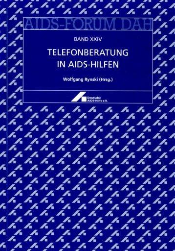 Telefonberatung in AIDS-Hilfen - Deutsche AIDS-Hilfe e.V.