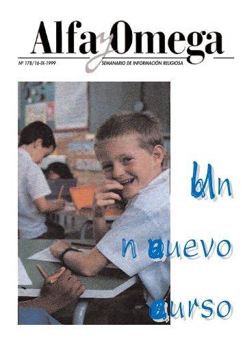 nº 178/16-ix-1999 semanario de información religiosa - Alfa y Omega