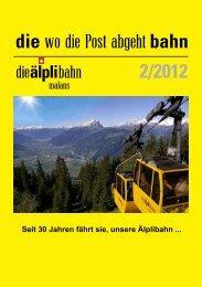 2/2012 die wo die Post abgeht bahn - Älplibahn Malans