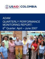 6 Quarter: April – June 2007