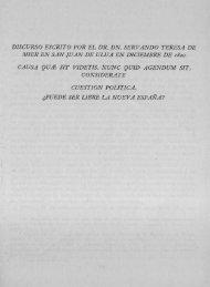 Discurso escrito por el Dr. Dn. Servando Teresa de ... - Bicentenario