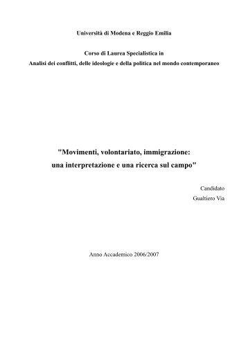 Abstract tesi con indice e bibliografia - La Citta' dei Cittadini