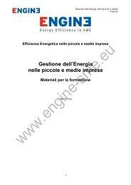 Gestione dell'Energia nelle piccole e medie imprese - engine-sme.eu