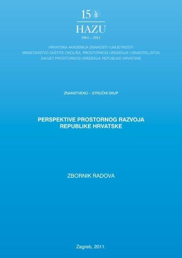 Perspektive prostornog razvoja - Ministarstvo graditeljstva i ...