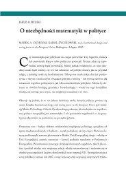 O niezbędności matematyki w polityce - Centrum Europejskie Natolin