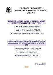 colegio de politólogos y administradores públicos de león, gto., ac