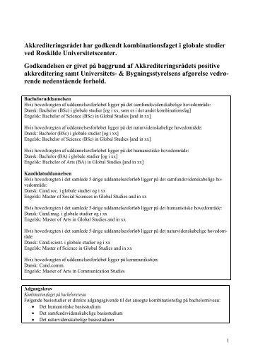 Globale studier - ACE Denmark