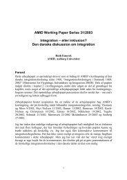 Den danske diskussion om integration - AMID: Academy for ...