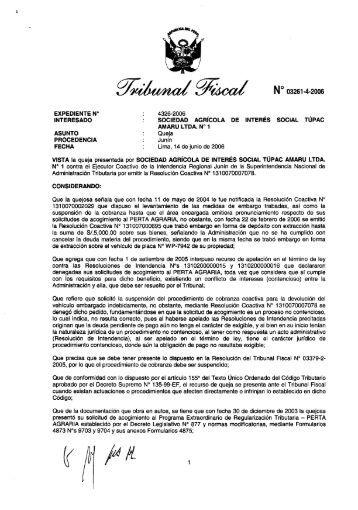 Resolución de Observancia Obligatoria Nº 2006-4-03261