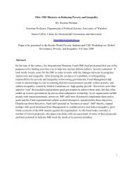Title: IMF Rhetoric on Reducing Poverty and Inequality By: Bessma ...