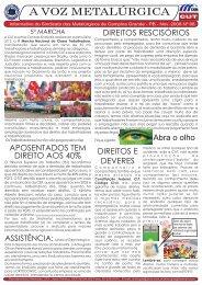 Informativo agosto 2008 - CNM/CUT