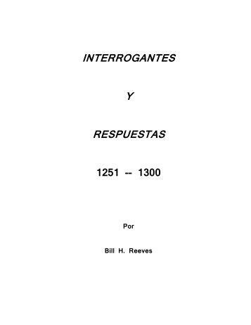 I y R 1251-1300 - Bill H. Reeves enseña