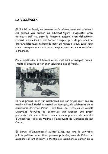 LA VIOLÈNCIA - Edu365.cat