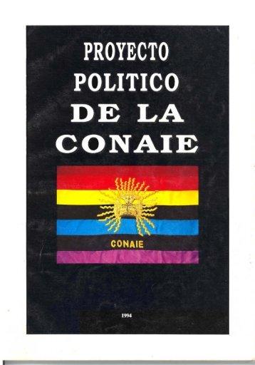 Proyecto político de la CONAIE
