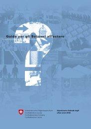 Guida per gli svizzeri all'estero – edizione 2009 - Circolo Svizzero