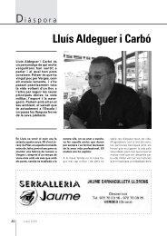 Diàspora: Lluís Aldeguer i Carbó. - Diputació de Girona